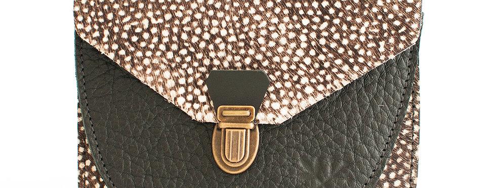 Portefeuille Paimpol - poils tachetés et noir grainé