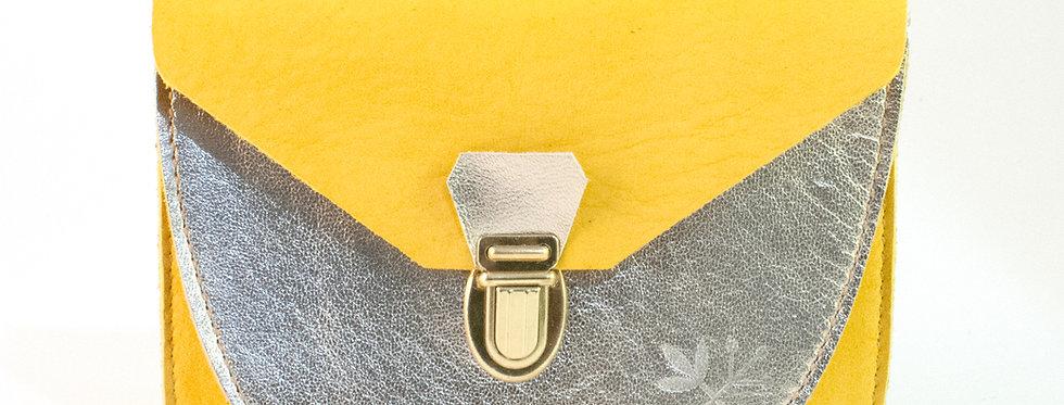 Portefeuille Paimpol - moutarde et doré