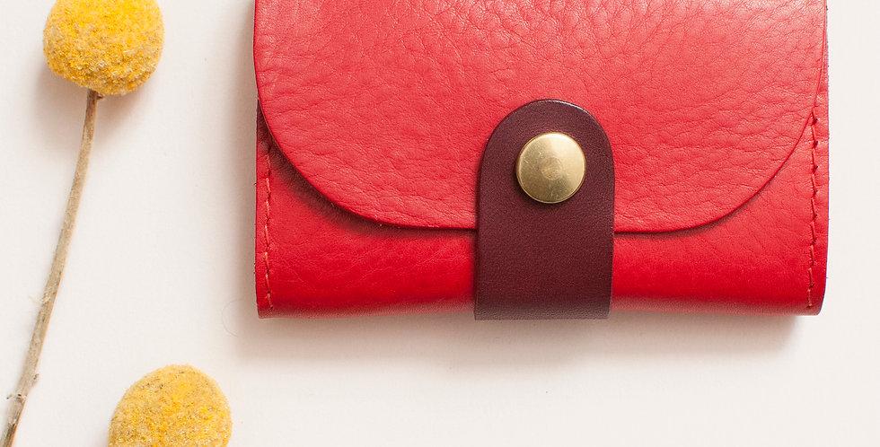 Porte-monnaie Ouessant - rouge et corail