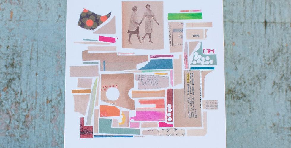 """carte postale """"Vendredi"""""""