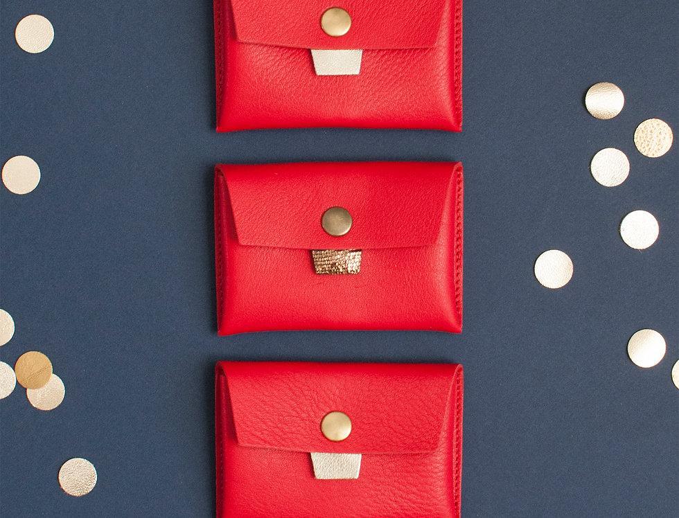 Porte-monnaie Cabourg - rouge vif