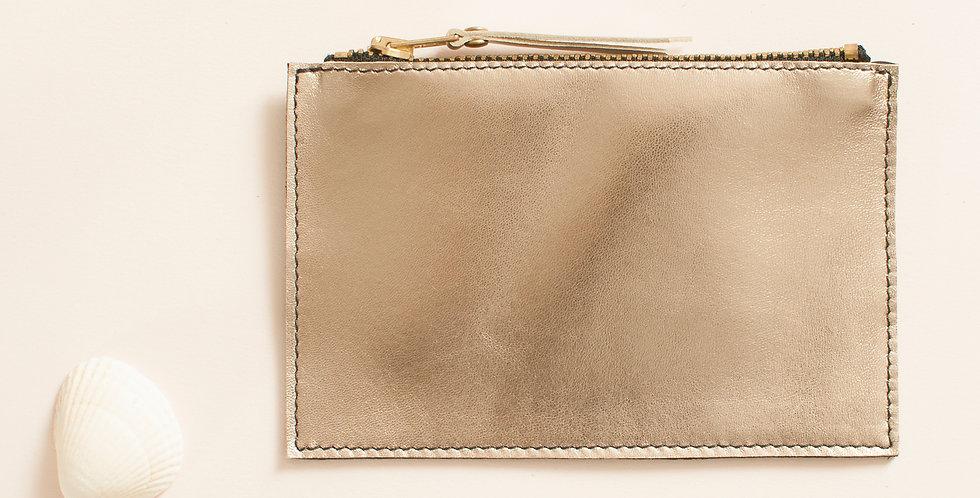 Mini pochette Cancale - doré & noir
