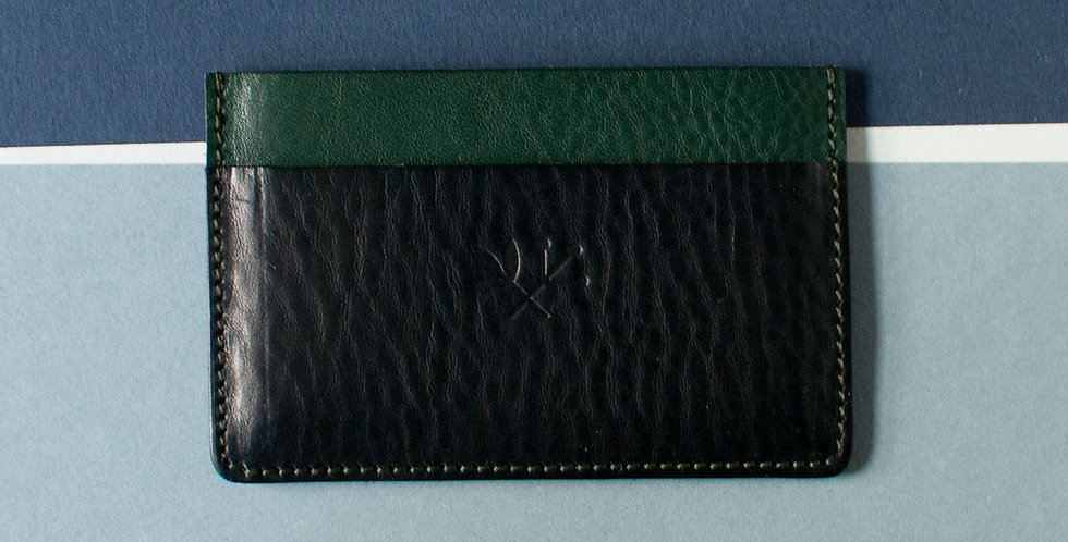 Porte-cartes Roscoff - vert & marine