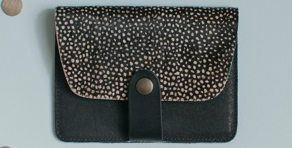 Porte-cartes Tregana - poils tachetés & noir