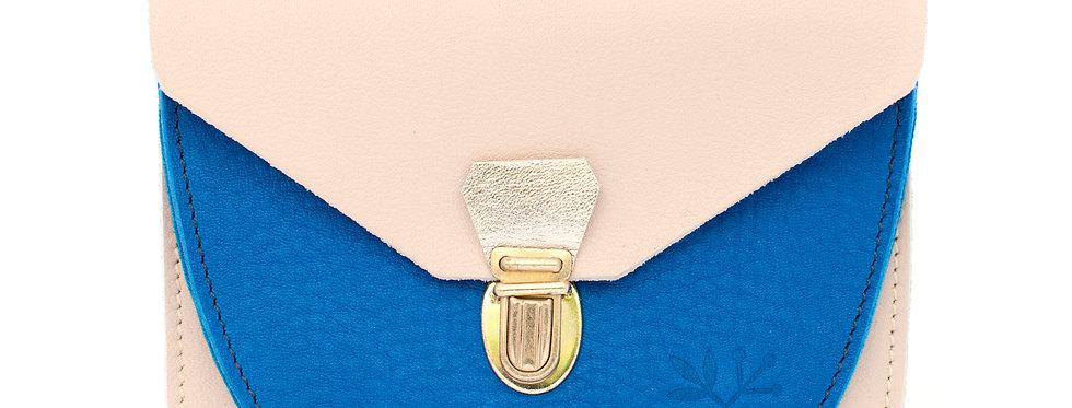 Portefeuille Paimpol - rose & bleu roi