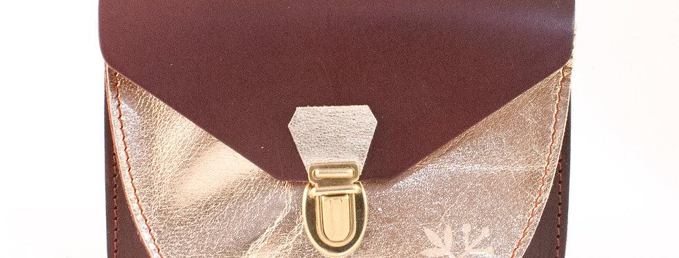 Portefeuille Paimpol - grenat & doré