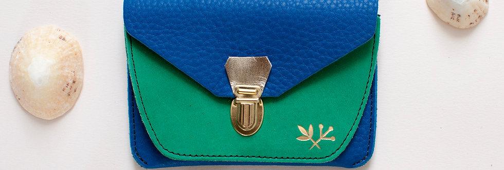 Portefeuille Paimpol - bleu & vert printemps