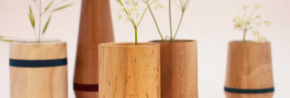 Vase en bois tourné