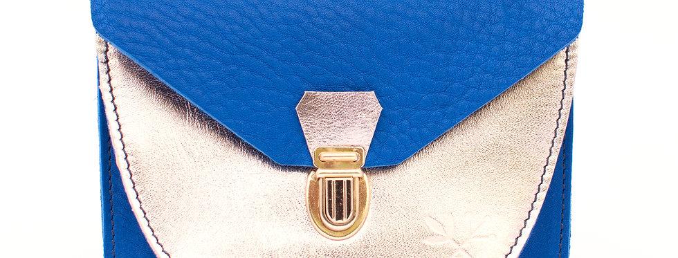 Portefeuille Paimpol - bleu roi & doré
