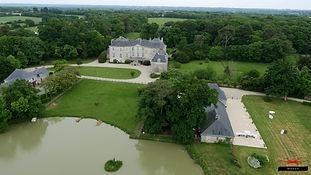 Vue aérinne Château de la Rousselière
