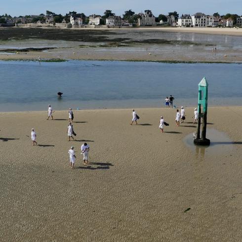 Golf sur la plage