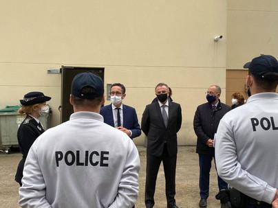 Accueil des nouveaux effectifs de police de la CSP de Louviers-Val de Reuil 22/02/2021