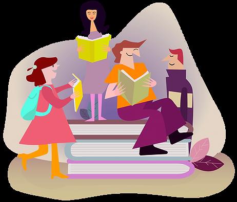 Ihmiset lukevat selkokielen kirjoja