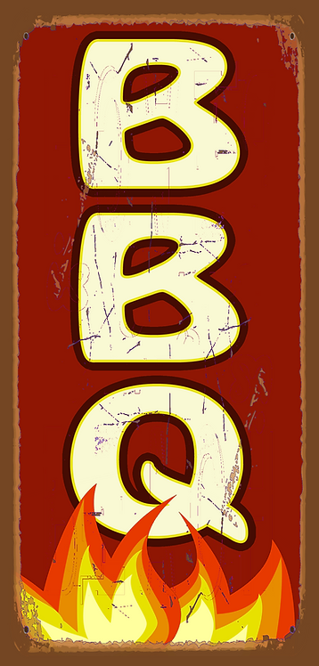 BBQ Flames Sign