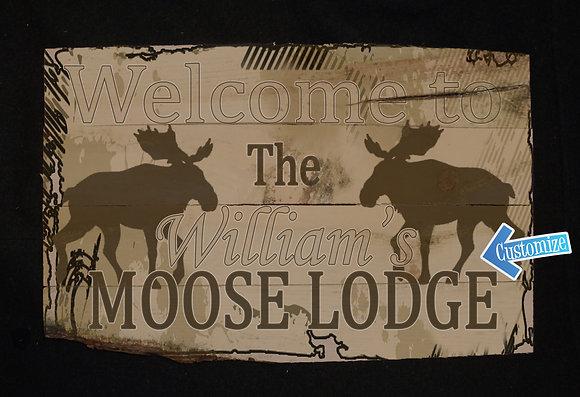 2 Moose Running