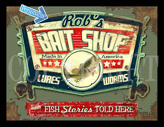 NEW SIGN!  Bait Shop LARGE