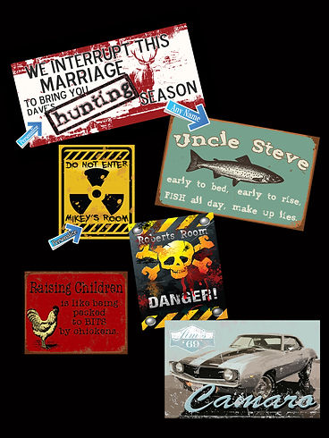 Custom Tin Signs, Vintage Tin Sign, Personalized Tin Signs, Create your own Tin Sign