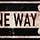 Thumbnail: Vintage One Way Sign
