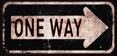 Vintage One Way Sign