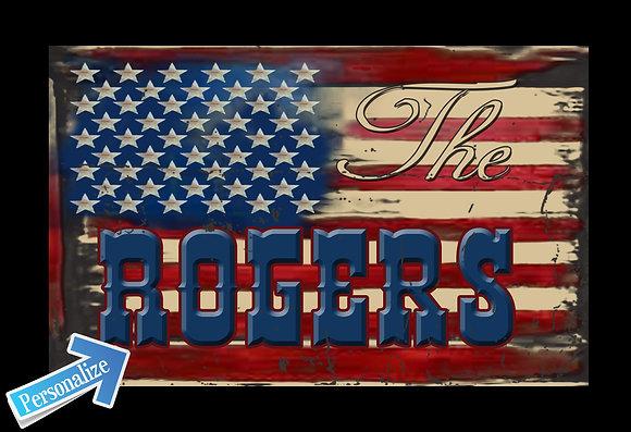 Vintage Flag Family Name