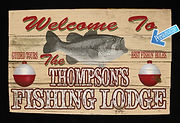 Custom Hunting Camp Tin Sign, Vintage Hunting Camp Tin Sign, Hunting Lodge Decor, Custom Hunting Signs