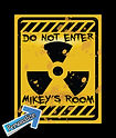 Custom Boys Room Tin Sign, Vintage Boys Room Tin Sign, Radiation Tin sign