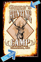 Custom Hunting Camp Tin Sign, Vintage Hunting Camp Tin Sign, Hunting Lodge Decor, Custom Hunting Signs