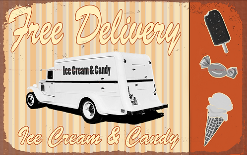 Ice Cream & Candy Sign