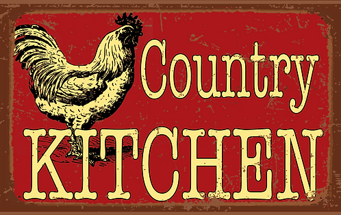 Country Kitchen Tin Sign. RB-FC-07