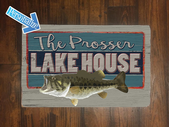 Lake House Large Wood