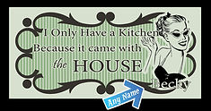 Custom Kitchen Tin Sign, Vintage Kitchen Tin Sign, Funny Tin Signs, Personalized Tin Signs