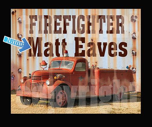 Firefighter Vintage Truck