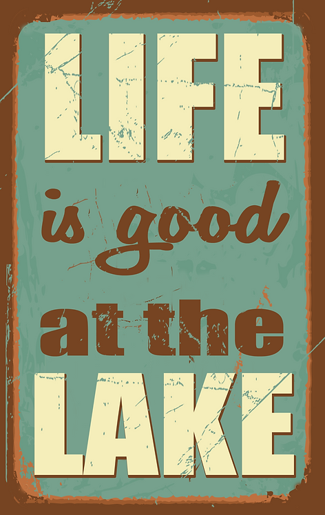 Life is Good at the Lake - RB-LC-32