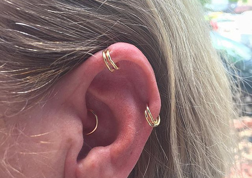 These piercings are all 20+ years healed
