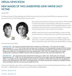sketches of John Wayne Gacy Victims UP10998
