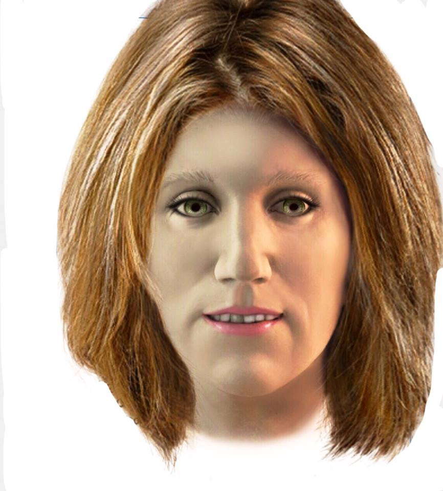 This visualization of NAMUS UP10335 is based on the newly released forensic art and  was created by artist Kathy Coop, a private citizen advocate for unidentified persons.