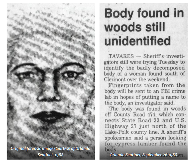 News Clipping about Julie Doe's discovery