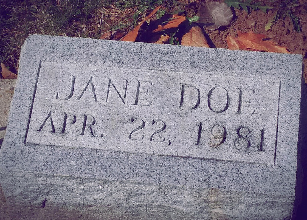 Buckskin Girl Jane Doe gravestone
