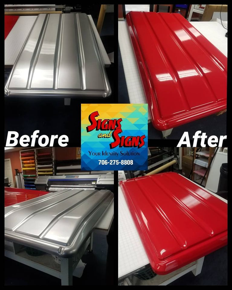 Golf cart roof wrap