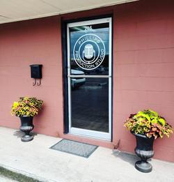 Door graphics and window tinting