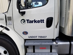 Truck logo and DOT numbers