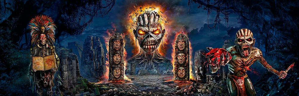 Book of Souls Iron Maiden Tri-fold design by Mark Wilkinson