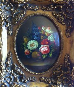 Victorian enamel oil painting.