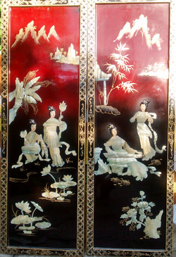 1970s Mother of Pearl Chinese Panels