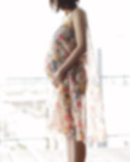 Pregnant Woman in a Dress