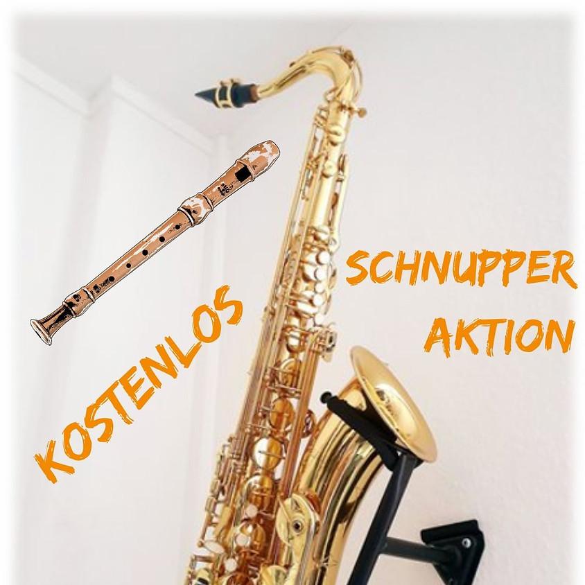 Schnupper-Aktion für Saxophon/-Ensemble und Blockflöte, kostenfrei