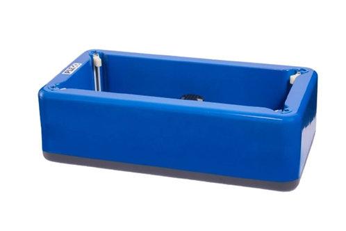 Dispensador PLEGO Azul (incluye pack de 100 cubre zapatos PE desechables)