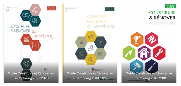 Nos éditions du Guide Construire et Rénover au Luxembourg