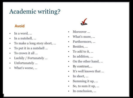 การเขียนงานเชิงวิชาการ (academic writing)