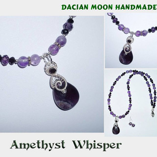 """Amethyst Whisper"" jewelry set"